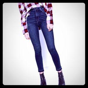 Zara woman high waisted jeans stretch